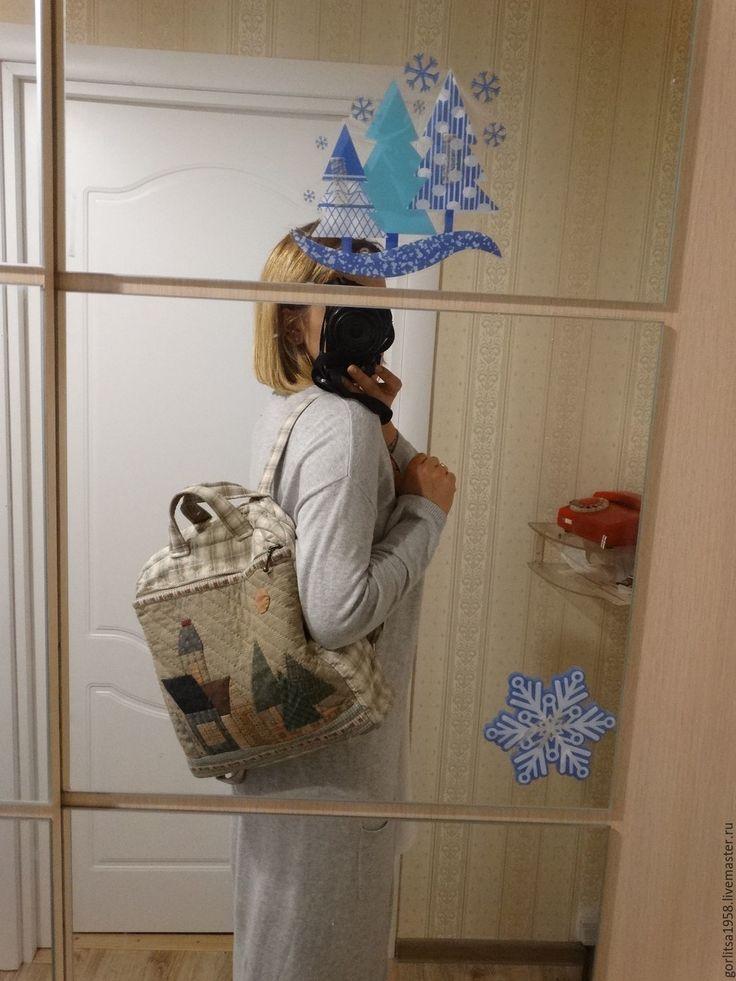 """Купить Хит сезона - Рюкзак """"Город"""". Handmade! Техника - Японский печворк - рюкзак женский, стильный"""