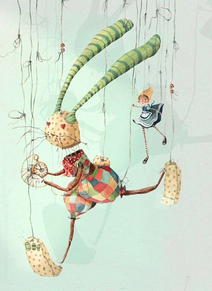 The White Rabbit and Alice by Holly Clifton-Brown