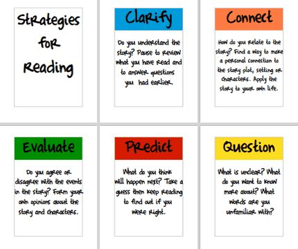 This is a link to a site that has a host of reading strategies with posters featuring graphic organizers. There are also some sample note taking strategies as well.