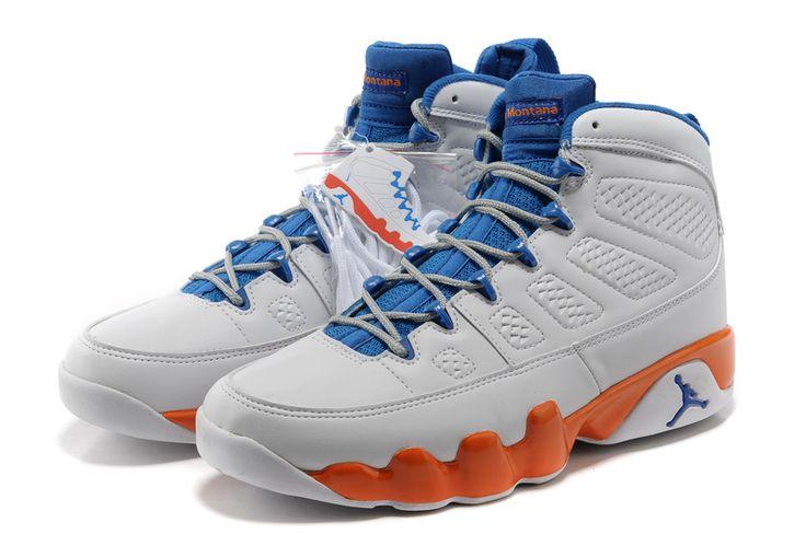 2012 Jordans Shoes For Men | Jordan 9 Shoes Men's 2012 White/Blue/Orange,Air Jordan 9,Air Jordans ...