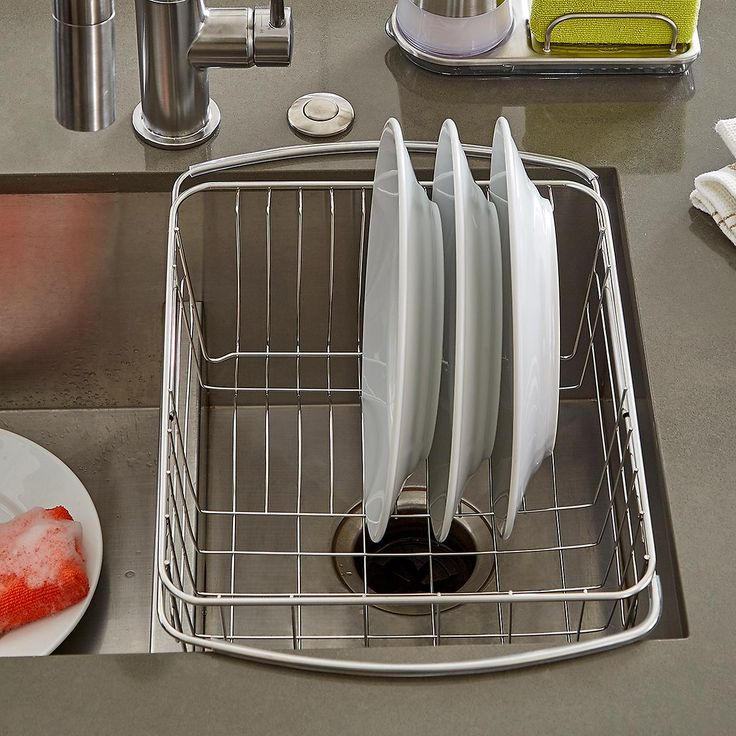 Stainless Steel In-Sink Dish Drainer