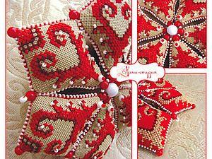 Мастер-класс: делаем оригинальную текстильную звезду на Новый год   Ярмарка Мастеров - ручная работа, handmade