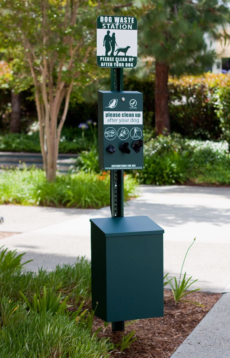 For just outside the facility for our guests -- Dog Waste Stations | Dog Park Equipment | Pet Waste Disposal Stations
