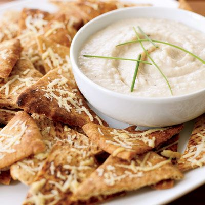 Parmesan Pita Crisps will please the guests