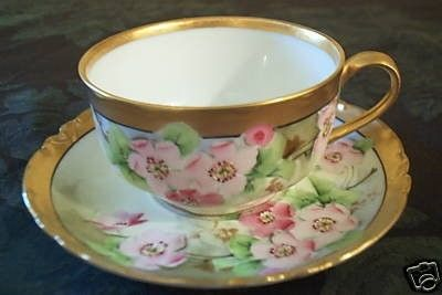 Welcome to our auction! You are bidding on one, SUPERB, HAVILAND LIMOGES CUP AND SAUCER SET signed by the Early 19th century Master Artist, Otto Berger. This is a Dutch Auction and a total of 10 sets