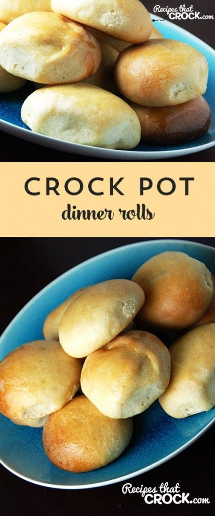 Free up your oven with these easy Crock Pot Dinner Rolls!