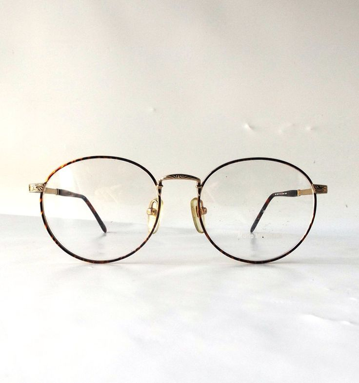 vintage 90's NOS round eyeglasses metal gold detailed frames brown tortoise shell modern retro eye glasses eyewear nerd mario martinelli new by RecycleBuyVintage on Etsy