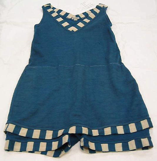 Bathing suit Date: 1920s Culture: American Medium: wool Dimensions: Length (from shoulder): 30 1/2 in. (77.5 cm) Credit Line: Gift of J. Robert Hoffman, 1979 Accession Number: 1979.124.6