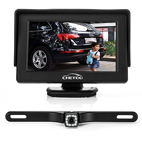 "From 15.56 Backup Camera And Monitor Kits High Definition 12 Leds Night Vision Waterproof Reversing Backup Camera With License Plate  4.3"" Tft Lcd Rear View Monitor"