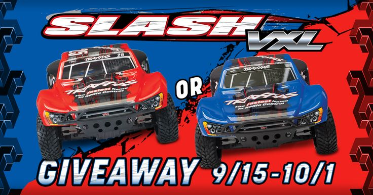 We're giving away a Traxxas Slash VXL 2WD Brushless RC Short-Course Truck to one randomly selected winner! Entries accepted from September 15, 2017 through October 1, 2017.