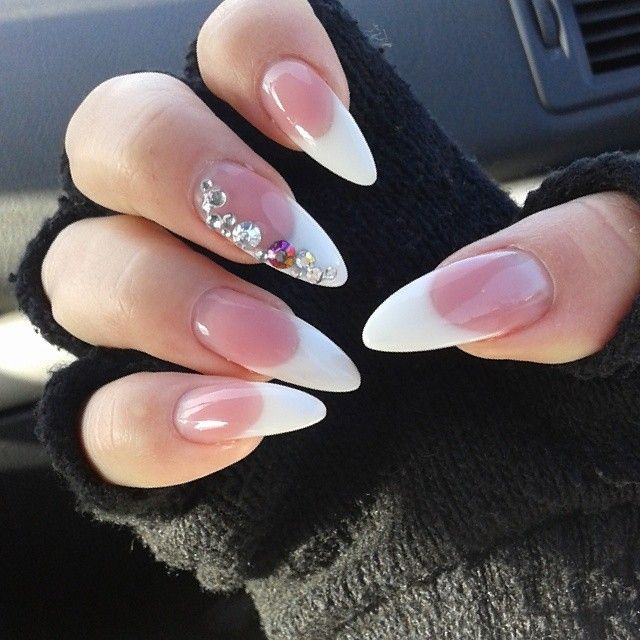 Best 25 french stiletto nails ideas on pinterest wedding so getting my nails done like this for our wedding day prinsesfo Image collections