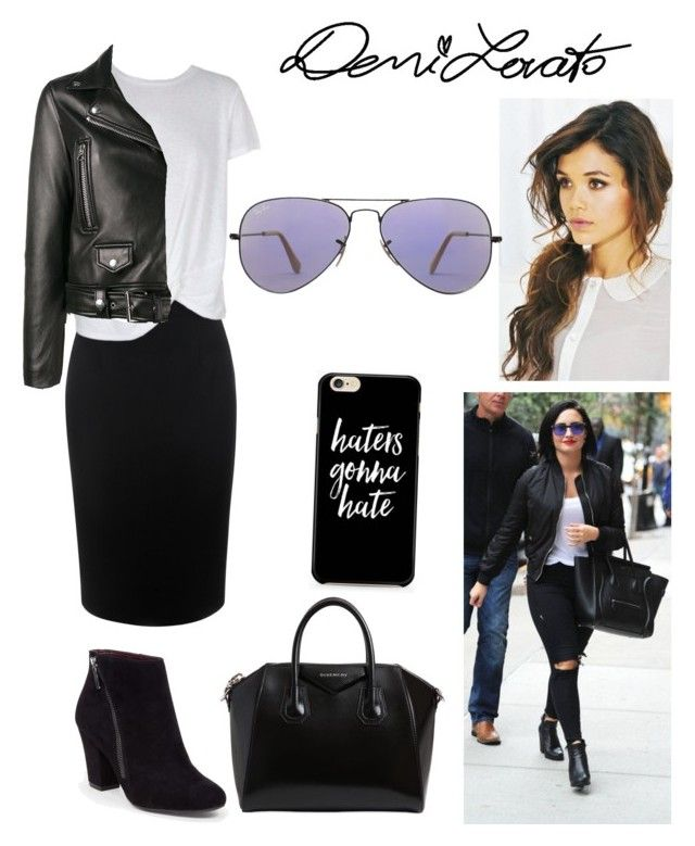 """""""Haters Gonna Hate—Demi Lovato"""" by kaitydidwhat on Polyvore featuring Alexander McQueen, MINKPINK, Acne Studios, BCBGeneration, Givenchy and Ray-Ban"""