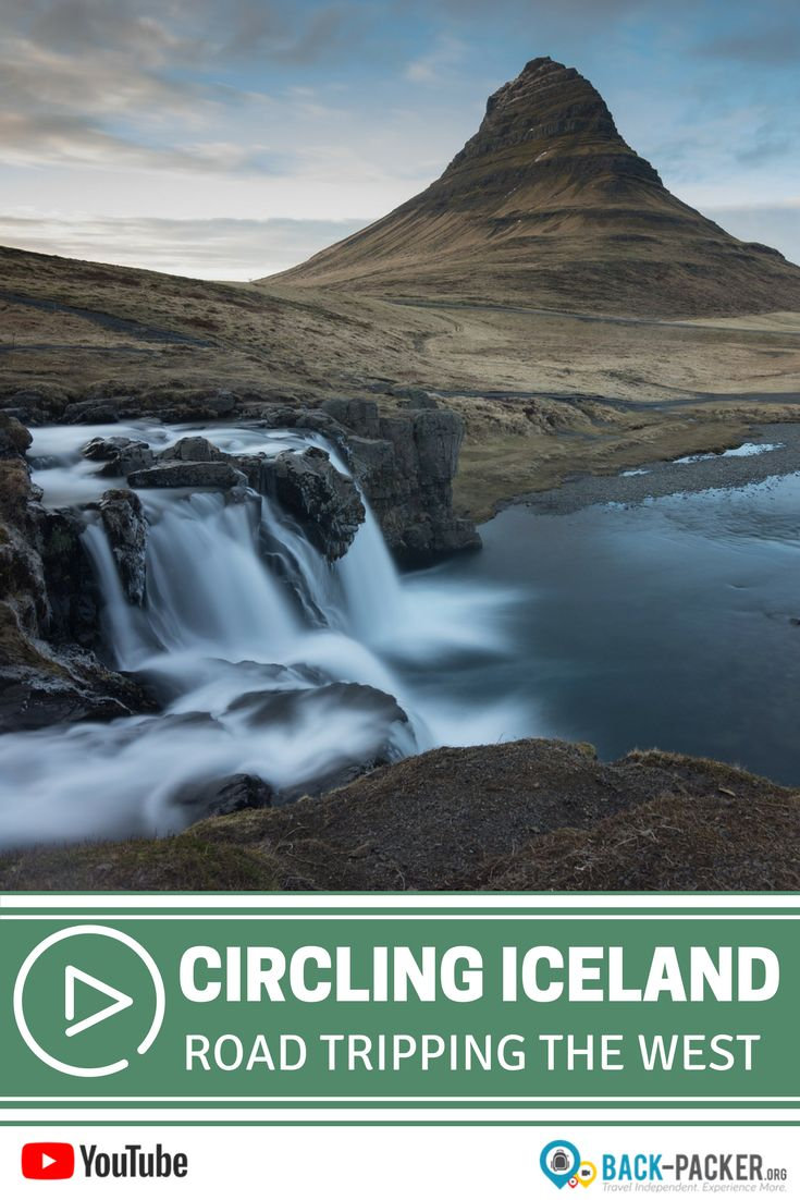 A complete itinerary for planning a road trip through Iceland's western region, an area known for its waterfalls. We leave the comforts of Reykjavik and the Blue Lagoon and explore waterfalls such as Kirkjufellsfoss and Hraunfossar. Practical tips for your trip to Iceland. | Back-packer.org#Iceland