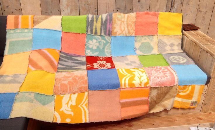 Mooie zelfgemaakte deken/plaid