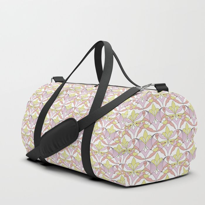 We upped the Duffle Bag game. Your new favorite gym and travel bags feature crisp printed designs on durable poly poplin canvas. Constructed with premium details for ultimate comfort. Available in three sizes.     #Pattern #Woman #Girls #Cubism #Curvism #Ladies #March #Women-day #girly #Sisterhood #Lis #Flower #Pink #Cherry #Mia #society6 #Duffle #Bag