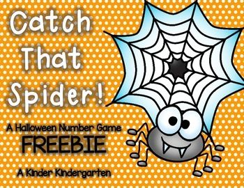 A fun Halloween game where students have to 'catch' a spider and match him to his number web!