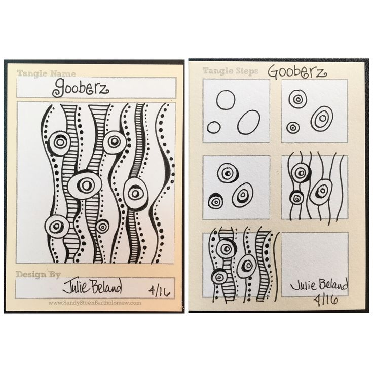 New tangle pattern, Gooberz. Julie Beland. Zentangle.