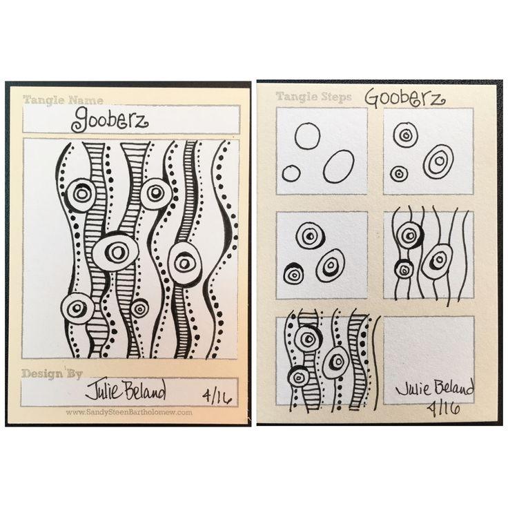 New tangle pattern, Gooberz. Julie Beland. Zentangle.