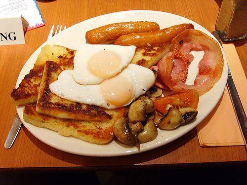 Traditional Northern Irish food  --  memories of my November trip!  I especially miss the potato bread!