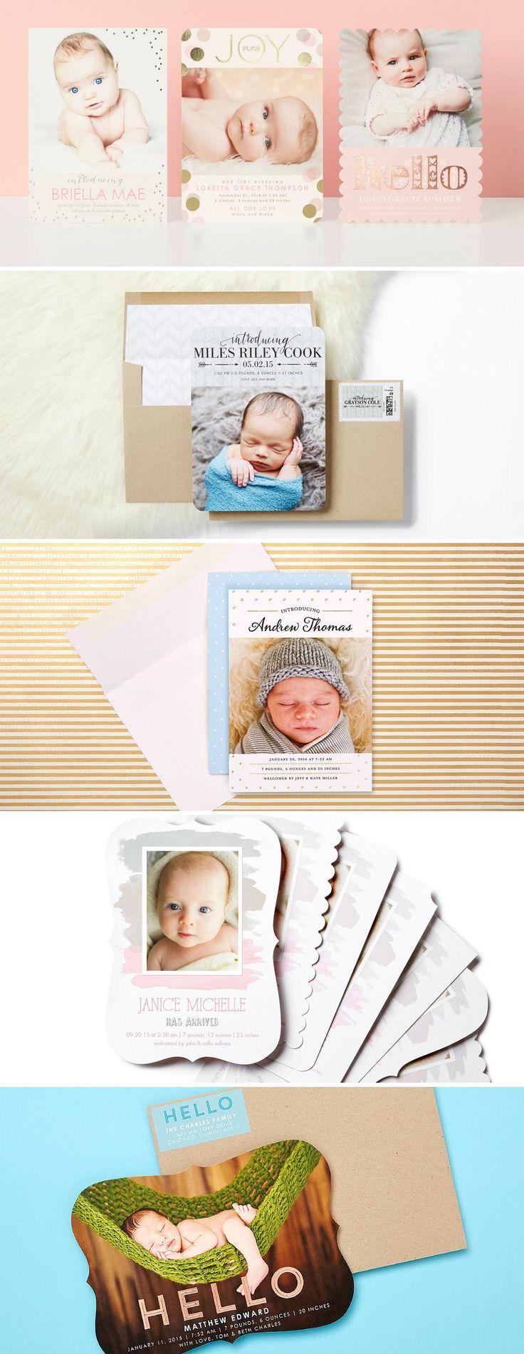 332 Best Birth Announcements Images On Pinterest Newborn Pictures