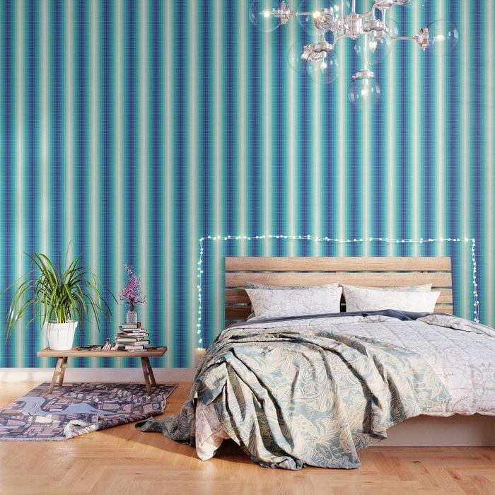 Important Make Sure To Order Enough Panels To Cover Your Wall Or Surface Size Options Below Our Peel Blue Bedroom Walls Pattern Wallpaper Striped Wallpaper