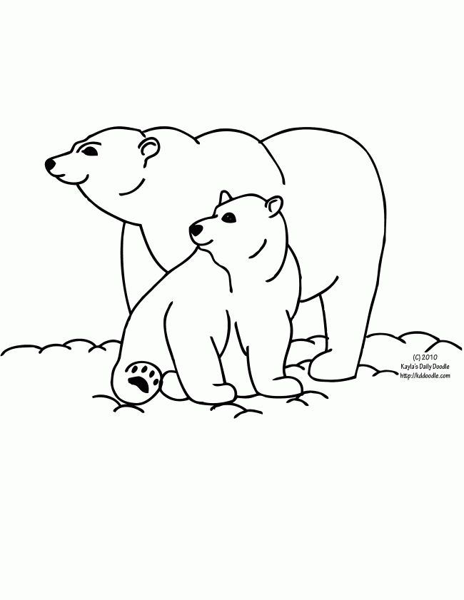 google polar bear coloring pages - photo#6