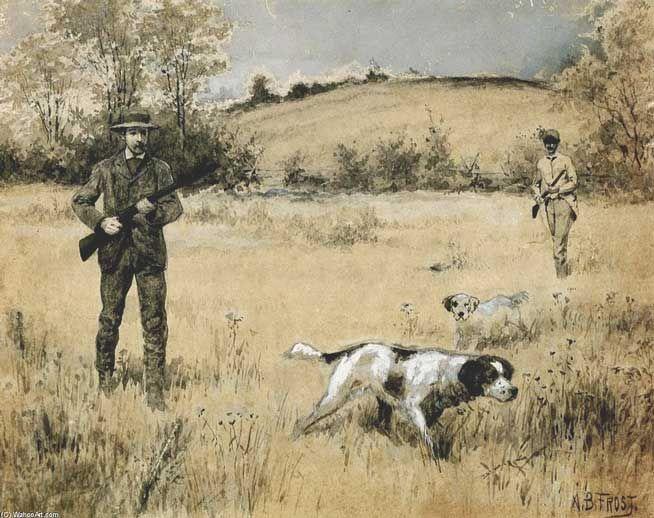 Garde-chasse, le métier, chasse gardée. ©Arthur B. Frost - 1851-1928