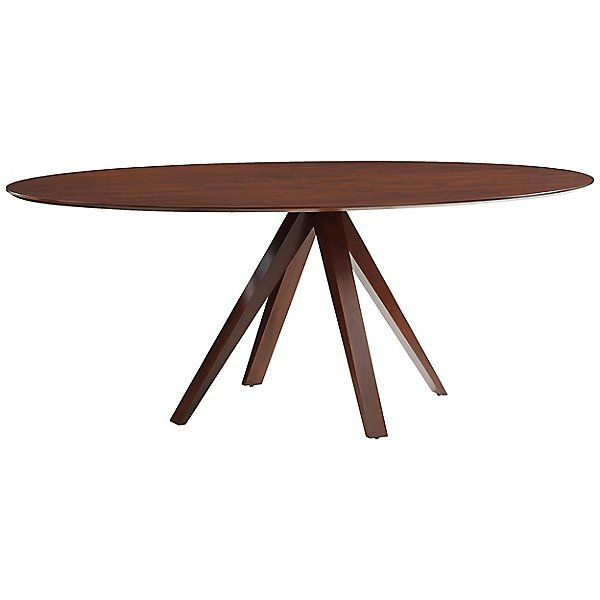 Saloom Furniture 36 X 70 Wood Nova Ellipse Dining Table By
