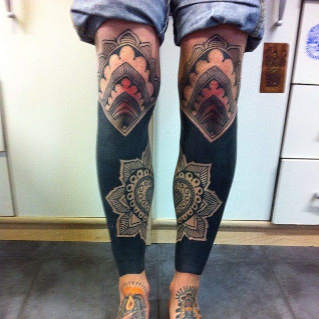 18 Amazing Leo Sleeve Tattoos: Amazing Blackwork Tattoo Gallery. Part 6 Of 9
