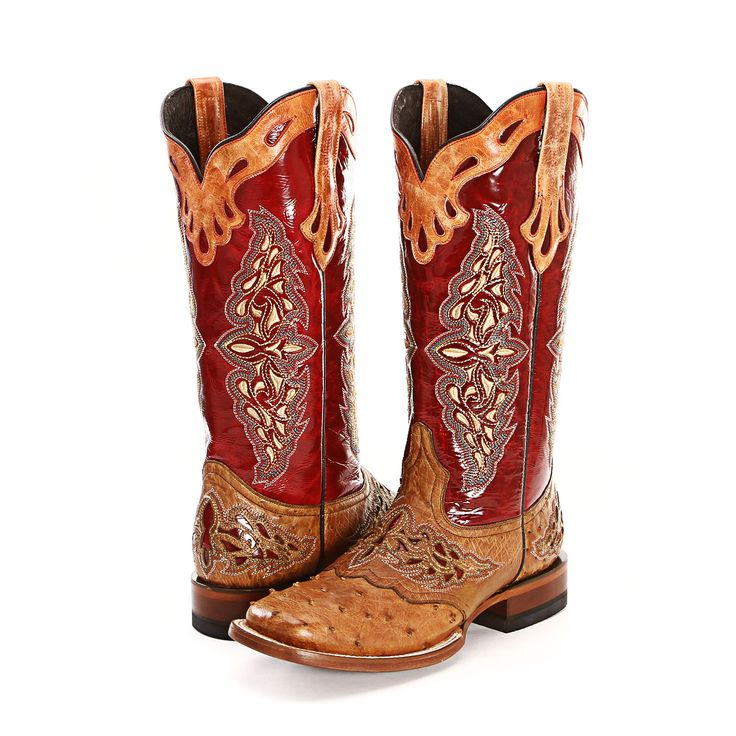 Lucchese Red Full Quill Ostrich Cowgirl Boots |All Womens Western Boots