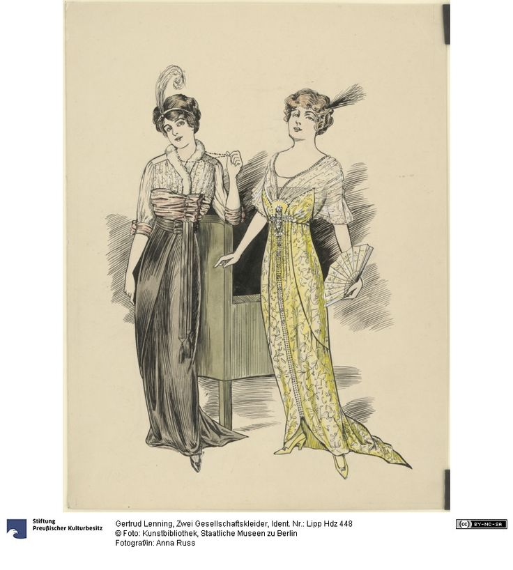 1912 Zwei Gesellschaftskleider | Lenning, Gertrud