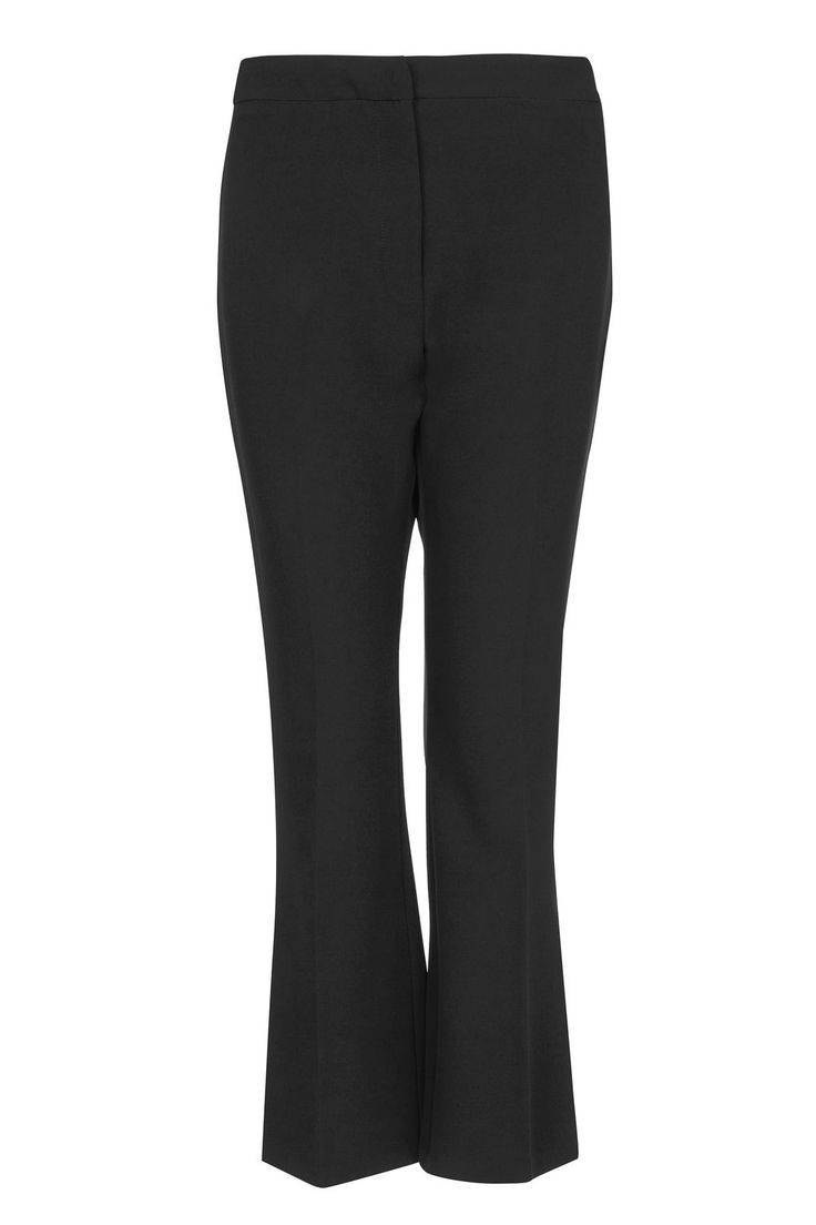 Topshop - black crop kick flare trousers