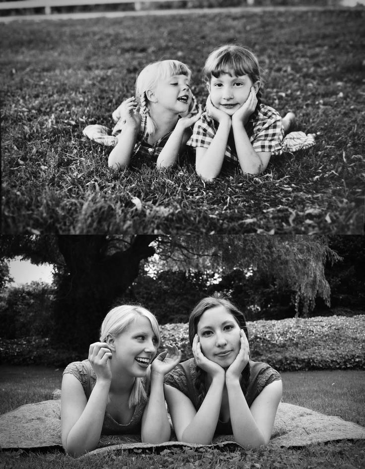 Recreating photos from the past.  Brooke & Morgan need to do this!