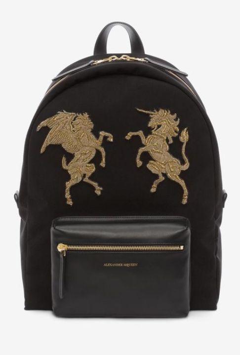 Embroidered Bullion Backpack - Alexander Mcqueen