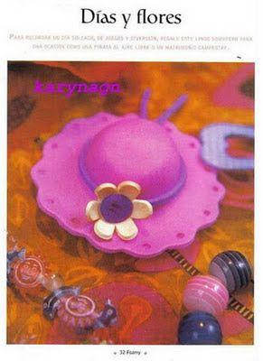 ♥ Un Poquito de Todo: paso a paso como hacer un sombrero en goma eva