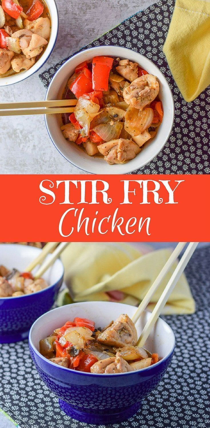 This Simple Stir Fry Chicken is so delicious! It's saucy and filled with vegetables! So delicious! Eat it plain or dollop some over some rice! #stirfry #chicken #stirfrychicken #dishesdelishrecipes https://ddel.co/sstfc via @dishesdelish