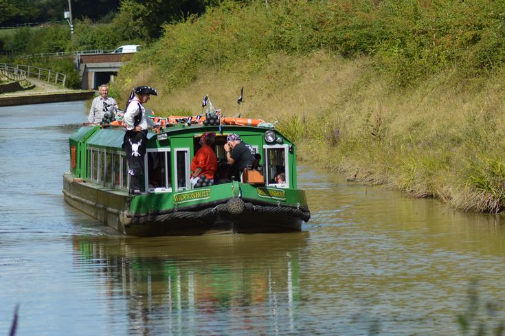 Pirates & Princesses cruises on the Wey & Arun Canal in Loxwood, West Sussex.