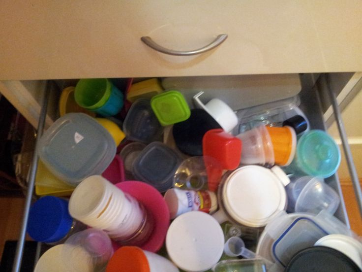 Plastics & Tupperware Drawer - always a contentious issue in any kitchen...