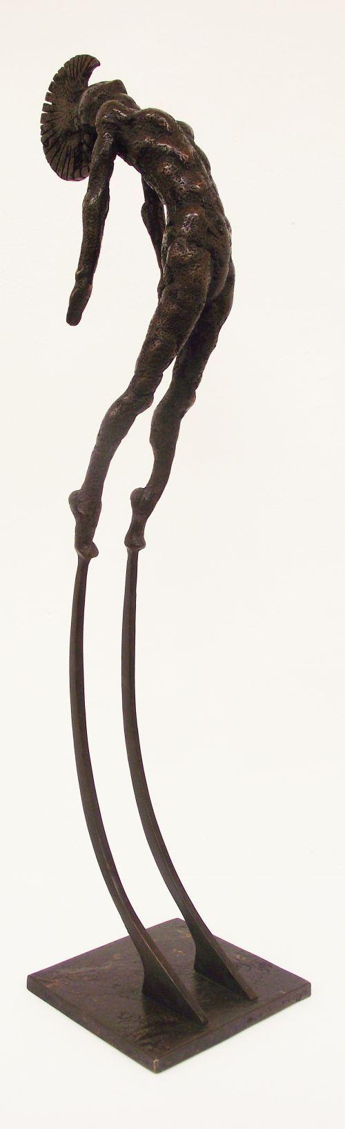 Solid bronze #sculpture by #sculptor John Douglas Joyce titled: 'Blade (Tall Indoor or Outdoor nude Aztec Style statue sculpture statue)'. #JohnDouglasJoyce