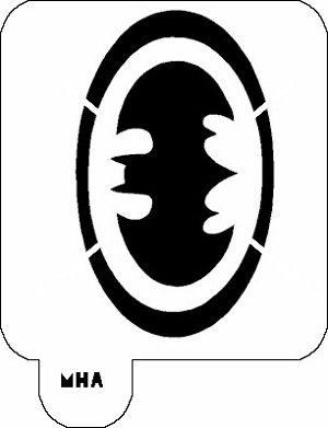 mr hair art stencil batman symbol - Stencils For Boys