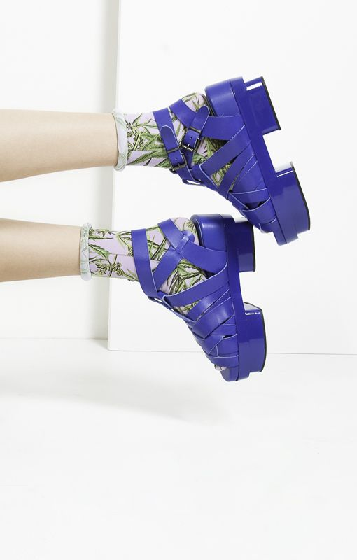 If I'm gonna bring socks and sandals into the summer, it's gonna be this Acne Tarou / Stratchcona Stockings combo from the collab with Craft and Culture