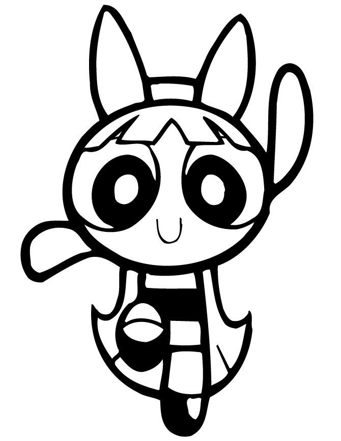Coloring pages of the Power Puff Girls — the three girls