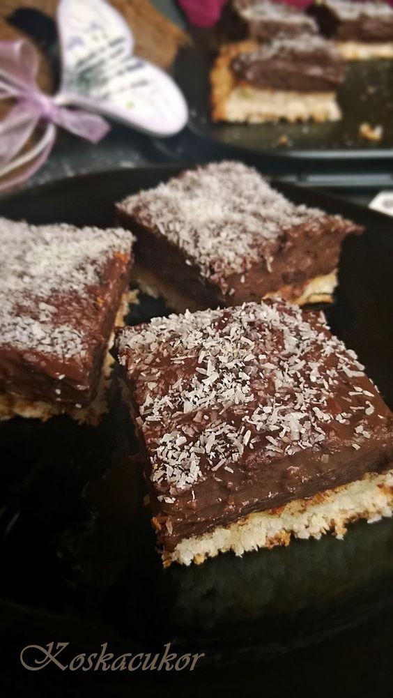 Kókuszos-csokis szelet