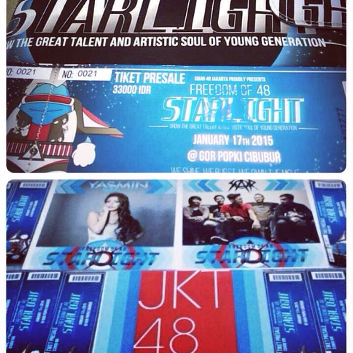 Watching jkt48 perfomence at freedom SMAN 48 on 17th january ticket 30k check my IG