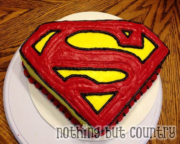 Super Heroes Square Cake Ideas 115505 Superman Cake Cake I