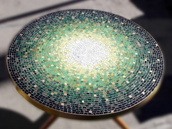 Mosaic Table by Vladimir Kagan | From a unique collection of antique and modern end tables at http://www.1stdibs.com/furniture/tables/end-tables/