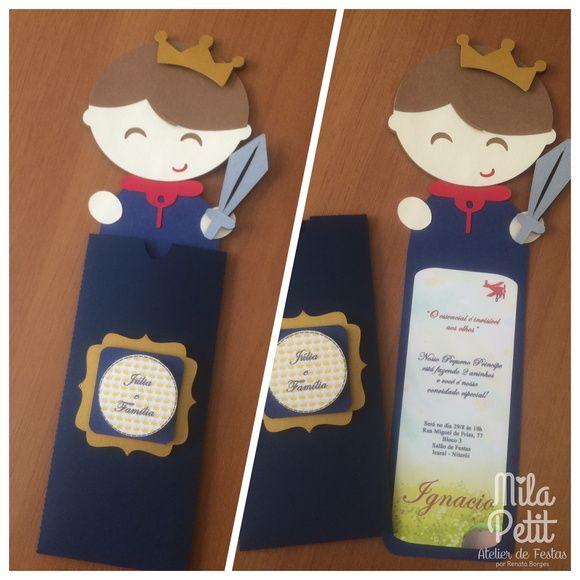 Convite Marcador Pequeno Príncipe