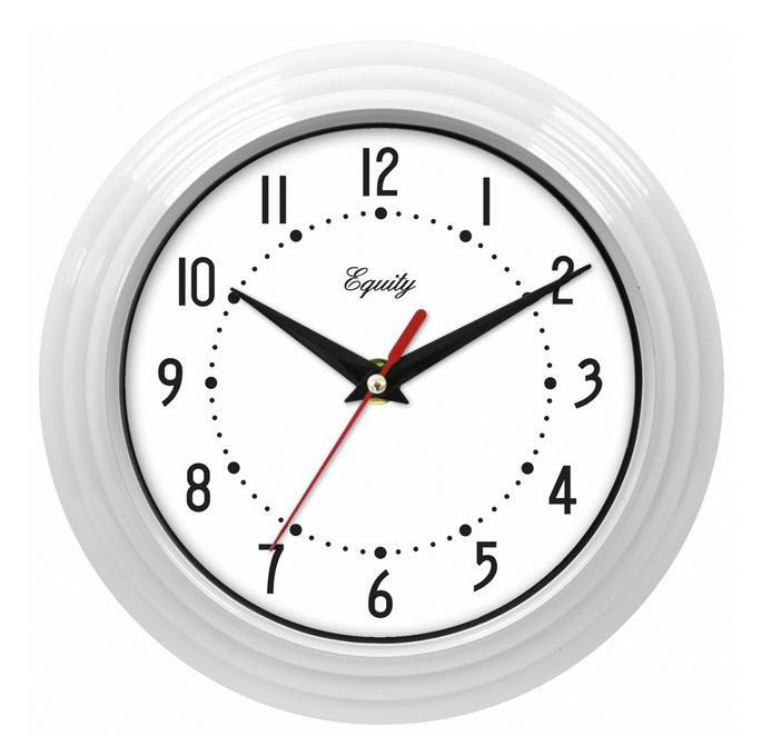 Equity By La Crosse White 8 Inch Wall Clock Quartz Metal Hands Ships From Usa Equity Modern White Wall Clocks Clock White Clocks