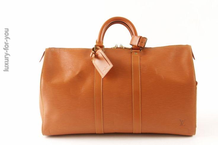 Louis Vuitton Keepall 45 in Epi Leder in Kenian M42978