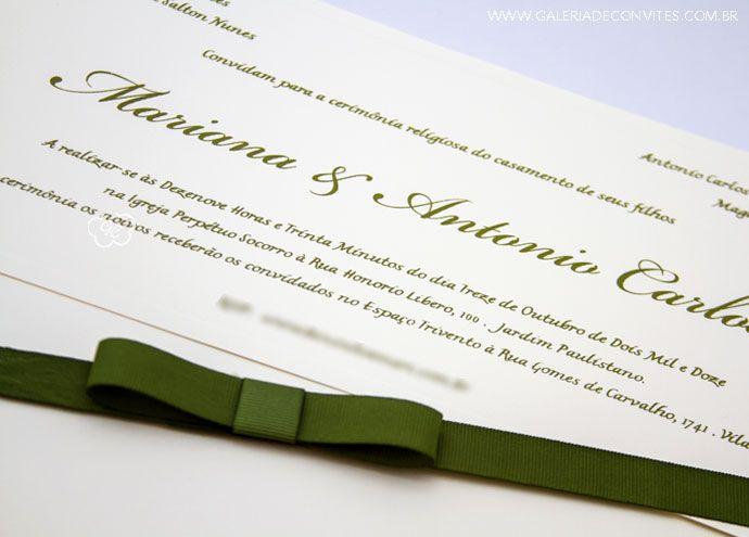 Convite casamento carteira. Modelo 49.